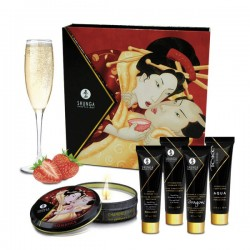 Ensemble secrets de Geisha vin pétillant à la fraise SHUNGA
