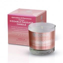Bougie de massage à embrasser Vanilla buttercream DONA