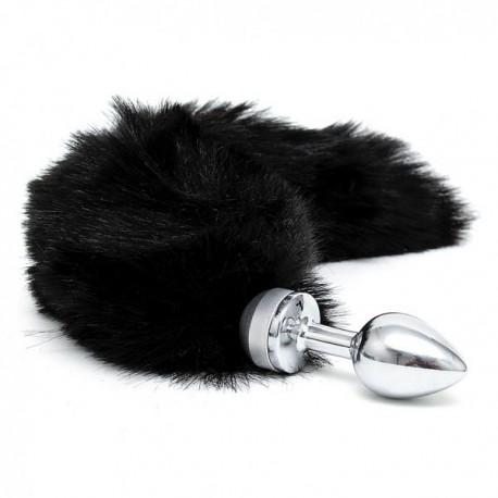 Plug métal avec queue noir small RIMBA
