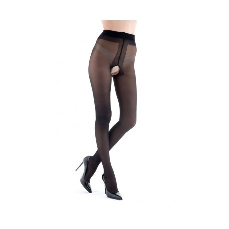 Collants fendus noirs 20 deniers MISS O